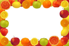Frame from fruit and berries Stock Image
