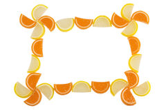 Frame of Fruit Candy Royalty Free Stock Images