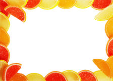 Frame from fruit candy Royalty Free Stock Photo