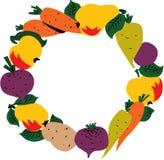 frame fruit vegetables διανυσματική απεικόνιση