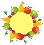 Frame with fruits. Vector illustration Royalty Free Stock Photos