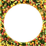 Frame of fruits Stock Photos