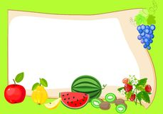 Frame with fruits Stock Image