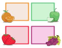 Frame fruits of various kinds. Royalty Free Stock Image