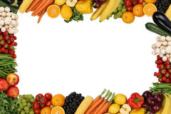Frame from fruits and vegetables with copyspace Stock Photo