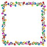 Frame from garland. A square frame with color garland Stock Image