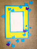 Frame gemaakt ââof document Royalty-vrije Stock Foto's