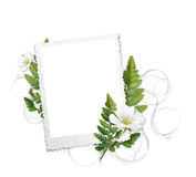 Frame with gentle flowers Royalty Free Stock Photos