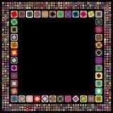 Frame geométrico abstrato ilustração royalty free