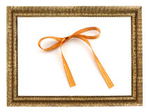 frame with  gift ribbon Royalty Free Stock Image