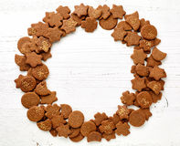 Frame of gingerbread cookies Stock Image