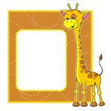Frame with giraffe Stock Image