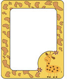 Frame with giraffe. Vectors illustration Stock Illustration