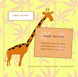 Frame with  giraffe Stock Images
