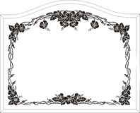 Frame. For Glass Etching Stock Images
