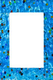 Frame of glass isolated. Frame made of venetian glass isolated on white Royalty Free Stock Image
