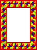 Frame from a glass mosaic. Frame for a photo from a glass mosaic in a vector Royalty Free Stock Image