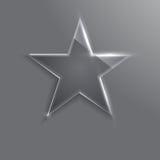 Frame glass star. Vector illustration. Eps10 Royalty Free Stock Image