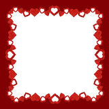 Frame with glitter hearts Royalty Free Stock Photos