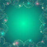 Frame with Glittering Colorful Heart Shapes Royalty Free Stock Images