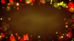 Frame of glowing blurry lights. Holiday abstract background Royalty Free Stock Photos