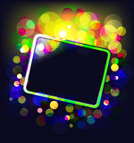 Frame with glowing dots Royalty Free Stock Photos