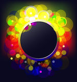 Frame with glowing dots Stock Images