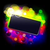 Frame with glowing dots Royalty Free Stock Images