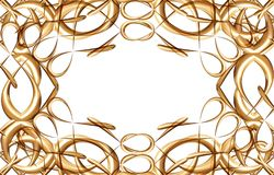 Frame of gold royalty free stock image