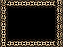 Frame gold stock image