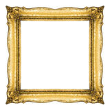 Frame in Gold Stock Photo