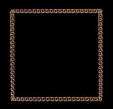 Frame with a gold chain on a black background Stock Image