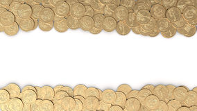 Frame with gold coins Stock Photo