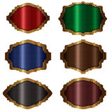 Frame gold collection `Banner ` stock illustration