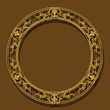 Frame gold color with shadow Royalty Free Stock Photo
