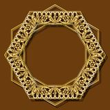 Frame gold color with shadow royalty free illustration