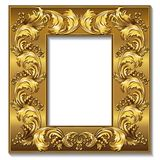 Frame gold color with shadow Stock Image