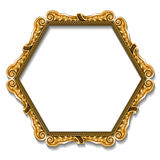 Frame gold color with shadow Royalty Free Stock Image