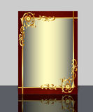 Frame with gold(en) pattern and reflection Stock Image