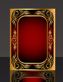 Frame with gold(en) pattern and reflection Stock Photo