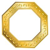 Frame Gold - Octagon 2 Royalty Free Stock Photography