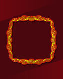 Frame in gold Royalty Free Stock Photography