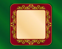 Frame in gold Royalty Free Stock Image