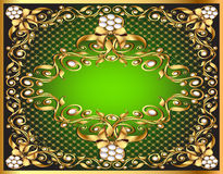 Frame  with gold pattern by net Royalty Free Stock Photo