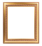 Frame gold for photo isolated on white background empty retro art design Stock Image