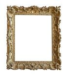 frame gold picture vintage 免版税库存图片