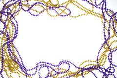 A frame of gold and purple beads Royalty Free Stock Photo