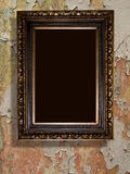 Frame  gold retro Royalty Free Stock Photography