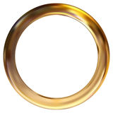 Frame gold ring Stock Image