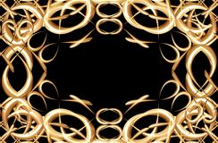 Frame with gold rings Royalty Free Stock Image